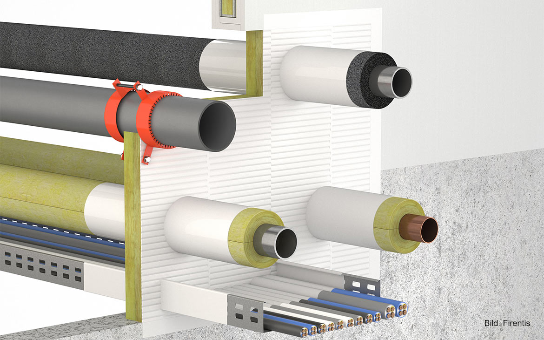 3D-Darstellung: KBS® Kombischott ABL 60 Einplatten-Kombischott für den Innen- und Außenbereich