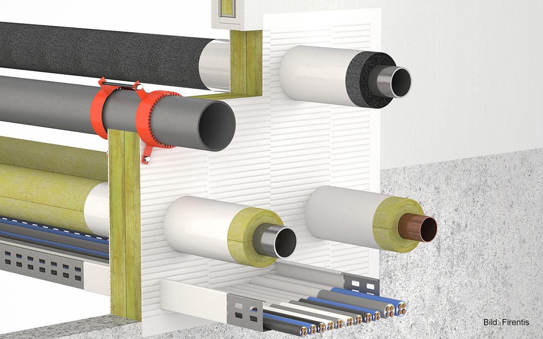3D-Darstellung: KBS® Kombischott ABL 90/120 Doppelplatten-Kombischott für den Innen- und Außenbereich