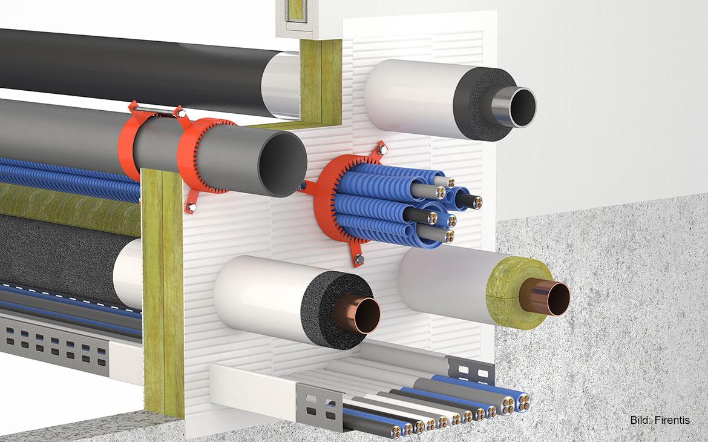 3D-Darstellung: KBS® Kombischott INT 90 für Doppelplatten-Kombischott mit Dämmschichtbildner für die Anwendung in trockenen Innenräumen