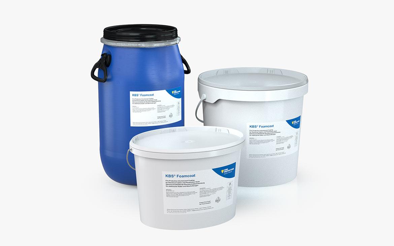 KBS® Foamcoat: Kunststoffgebinde mit 15, 25 und 30 kg Inhalt