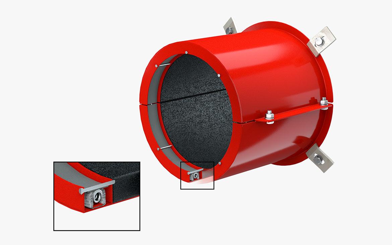KBS® Pipe Seal M: Verfügbar in 15 Standardgrößen, anwendbar für jeden Rohrdurchmesser von DN 50 – DN 400. Sondergrößen für die Rohrdurchmesser DN 450, DN 500, DN 560, DN 630.