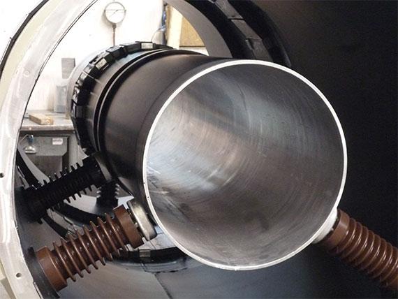Lösung zur Abschottung von Aluminium-Hohlleitern