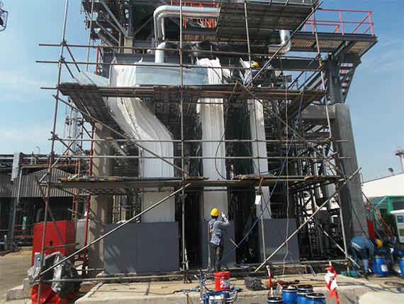 Kabelbeschichtung in einer Raffinerie