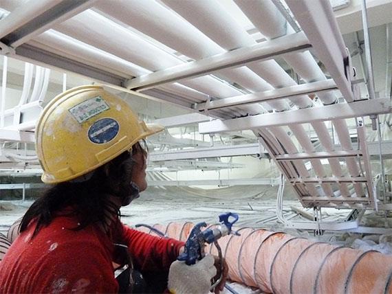 Kabelbeschichtung im Sime Darby Gaskraftwerk Thailand